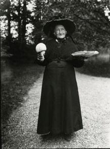 Mushroom Lady, Satigny Switzerland, 1912